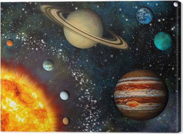 Cuadro en Lienzo Visualización realista del Sistema Solar contiene ...