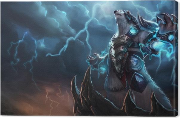 Cuadro en Lienzo Volibear - League of Legends - Temas