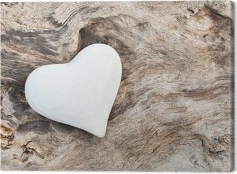 Cuadro en Lienzo White Heart