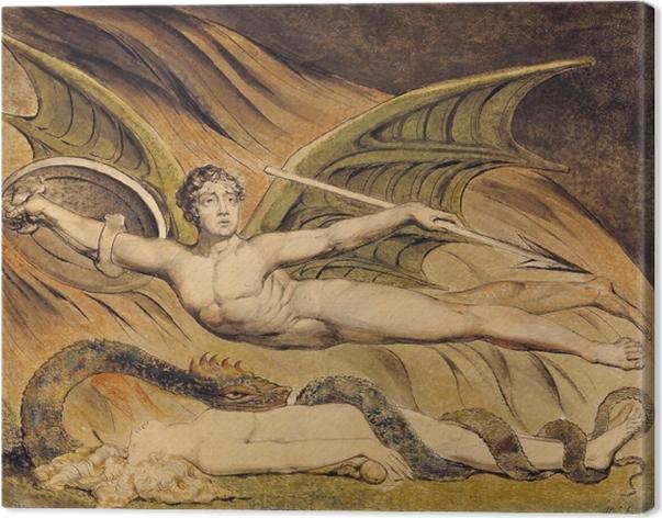 Cuadro en Lienzo William Blake - Satanás Exulting sobre Eva - Reproducciones