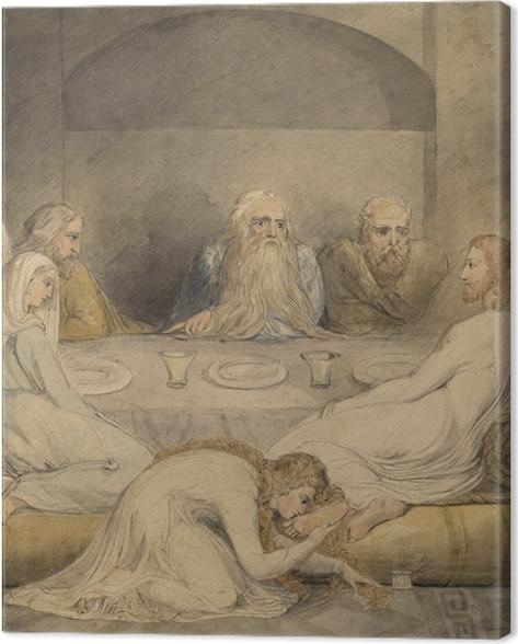 Cuadro en Lienzo William Blake - Unge a Jesús una mujer Sinfil - Reproducciones