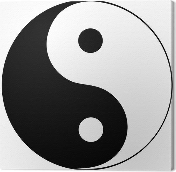 Cuadro en Lienzo Ying yang símbolo de la armonía y el equilibrio ...
