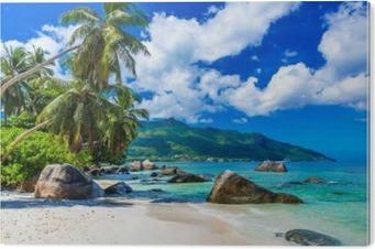 Cuadro en Metacrilato Baie Beau Vallon - Playa en la isla de Mahé en las Seychelles