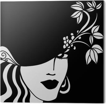 Póster Cara de una mujer en blanco y negro • Pixers® - Vivimos para cambiar eb536d9396a