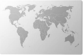 Cuadro en Metacrilato Map of the world