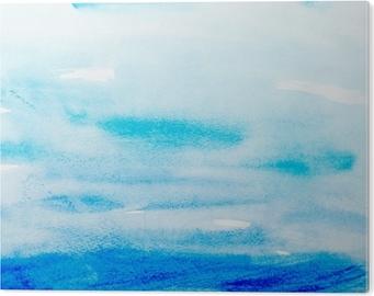 Cuadro en Metacrilato Trazos de color acuarela, arte, pintura