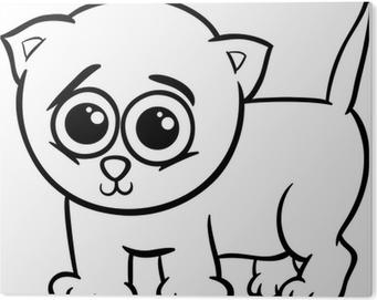 Vinilo Pixerstick Chico Lindo Para Colorear De Dibujos Animados