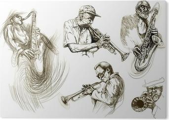 Cuadro en PVC Hombres jazz (recolección manual de dibujo de bocetos)
