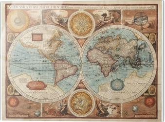 Cuadro en vidrio Mapa antiguo (1626)
