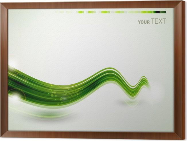 Cuadro Enmarcado Abstracto línea verde rápido • Pixers® - Vivimos ...