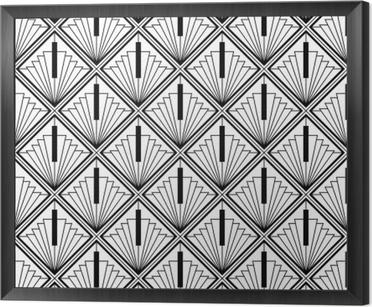 Cuadro Enmarcado Art deco monocromo transparente árabe negro