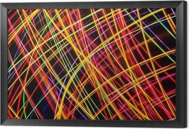 Cuadro Enmarcado Arte Moderno. Exposición larga a las luces de neón de textura.