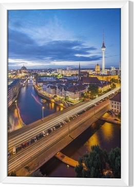 Cuadro Enmarcado Berlín, Alemania Escena Skyline