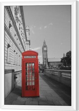 Cuadro Enmarcado Big Ben y cabina de teléfono rojo