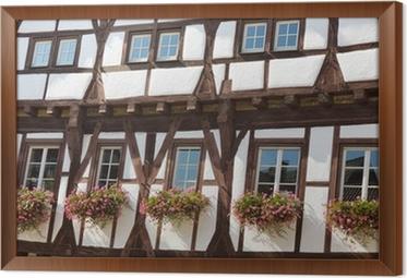 cuadro enmarcado bigas de madera arquitectura en alemania bigas de madera - Bigas De Madera