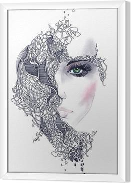 Cuadro Enmarcado Cara de mujer abstracta