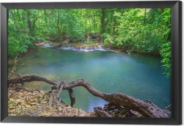 Cuadro Enmarcado Cascada profunda en Krabi, en el sur de Tailandia