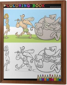 Cavemen Pareja Familia Para Colorear