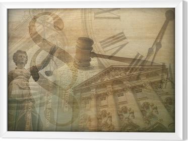Cuadro Enmarcado Collage de justicia