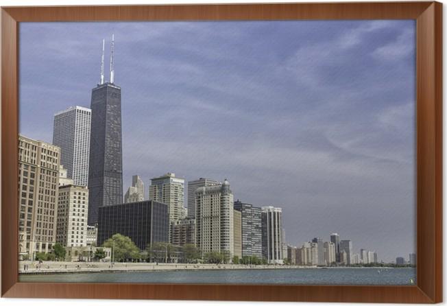 Cuadro Enmarcado El centro de Chicago • Pixers® - Vivimos para cambiar