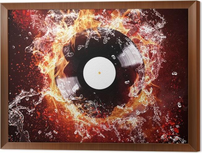 Cuadro Enmarcado Grabación de discos de vinilo • Pixers® - Vivimos ...