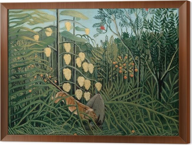 Cuadro Enmarcado Henri Rousseau - Lucha entre un tigre y un búfalo - Reproducciones