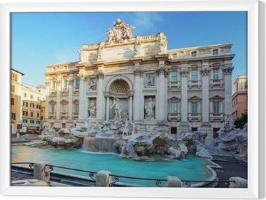 Cuadro Enmarcado La Fontana de Trevi. Roma, Italia.