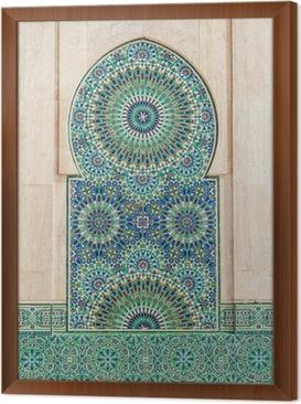 Cuadro Enmarcado Marroquí de fondo de azulejos de época