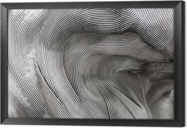 Cuadro Enmarcado Textura del fondo de la superficie de metal brillante. La placa curva está hecha de hierro.