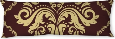 Cuscino oblungo Modello classico d'oro senza soluzione di continuità. ornamento tradizionale orient. sfondo vintage classico