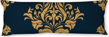 Cuscino oblungo Vector damask seamless pattern element. ornamento damascato vecchio stile lusso classico, texture vittoriana reale senza soluzione di continuità per sfondi, tessile, avvolgimento. modello barocco floreale squisito.