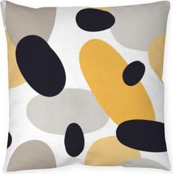 Decoratief sierkussen Modern naadloos patroon met abstracte kleurrijke vormen: cirkels, ovalen. Doodle hand getrokken textuur. trendy creatieve onfettiachtergrond voor druk voor modern en origineel textiel, verpakkend document