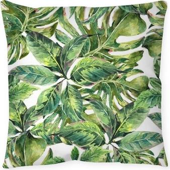 Decoratief sierkussen Zomer exotische waterverf naadloze patroon