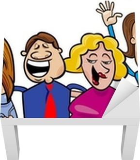 9a62573bee4 Poster Grupp av glada människor. • Pixers® - Vi lever för förändring
