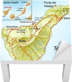 Spanien Lanzarote Karta.Canvastavla Karta Over Teneriffa Pixers Vi Lever For Forandring