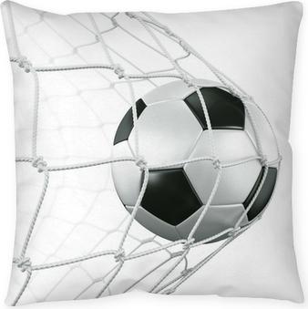 Dekokissen Soccerball in net