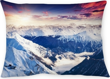 Dekorační polštář Horská krajina