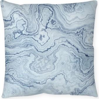Dekorační polštář Plynulé textury modré mramoru vzor pro pozadí / ilustraci