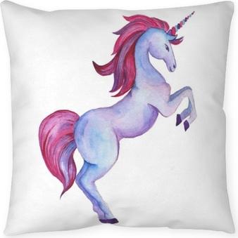 Dekorační polštář Unicorn collection. akvarelové objekty