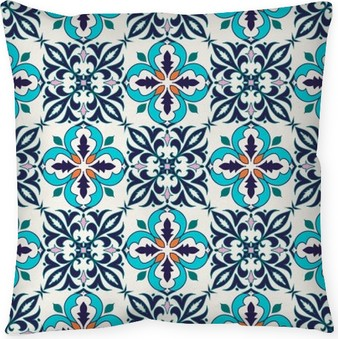 Dekorační polštář Vektorové bezešvé textury. Krásný barevný vzor pro design a módu s ozdobnými prvky