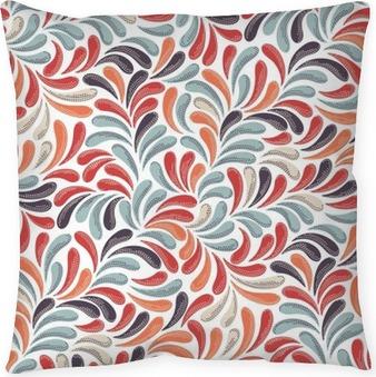 Dekorativ kudde Abstrakt färgrik mönster