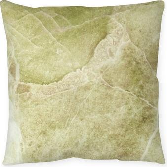 Dekorativ kudde Närbild yta marmor stenmur textur bakgrund