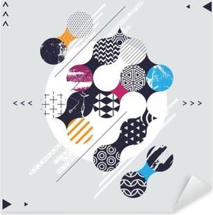 Pixerstick Dekor Abstrakt geometrisk komposition med dekorativa cirklar