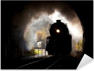 Pixerstick Dekor Ånglok träder tunneln