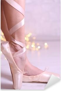 Pixerstick Dekor Ballerina i pointe skor i dance hall