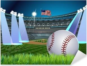 Pixerstick Dekor Baseball stadion i ljuset