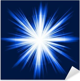 Pixerstick Dekor Blått ljus, stjärnabristning, abstrakt linssignalljus, fyrverkerier