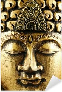 Pixerstick Dekor Buddha guld Bakgrund