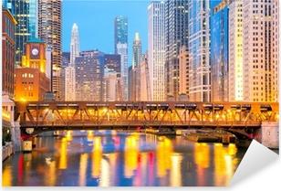 Pixerstick Dekor Chicago centrum och floden