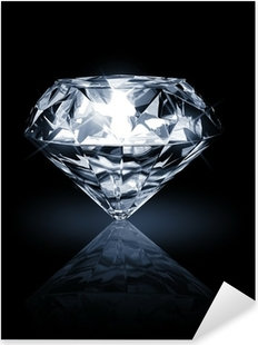 Pixerstick Dekor Diamant på mörk bakgrund